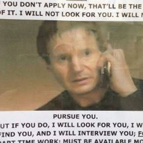 Taken Poster Liam Neeson Job Celebrations Oxford 470