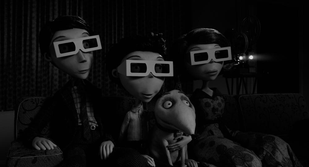 Frankenweenie 3D glasses Viktor Sparky Mum Dad Tim Burton