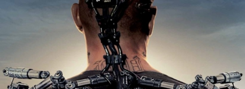 First Elysium poster shows off Matt Damon's exoskeleton