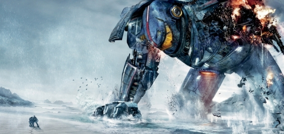Pacific Rim poster jaeger robot fallen on beach arm destroyed 570