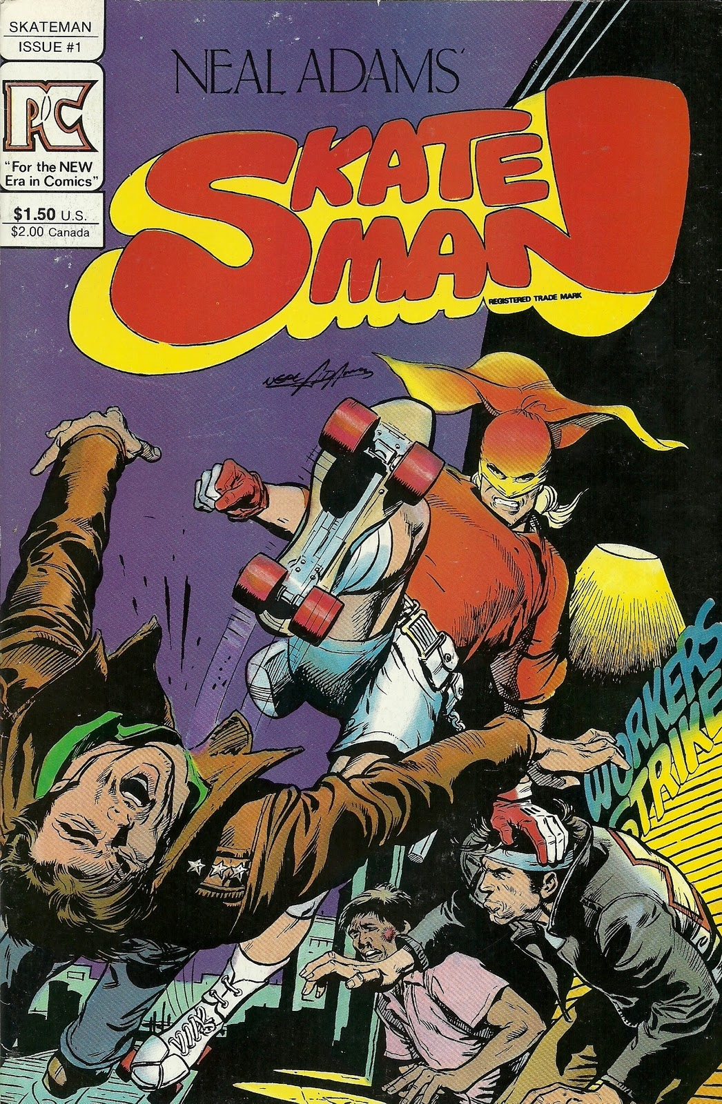 Skateman comic book cover Neal Adams