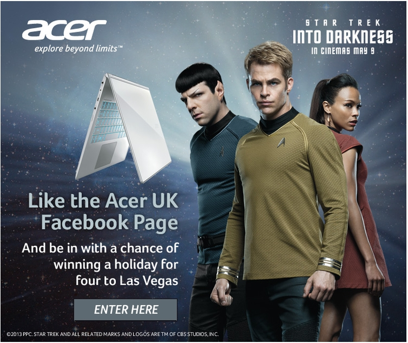 Star Trek Into Darkness Acer UK Facebook Competition