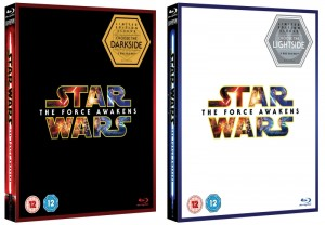 Star Wars The Force Awakens packshot Blu-ray 2-disc light and dark editions