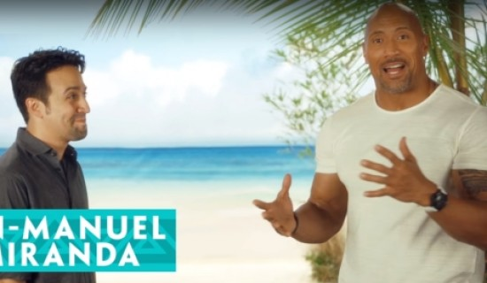 Watch Dwayne Johnson and Lin-Manuel Miranda's fan-off over Disney's Moana