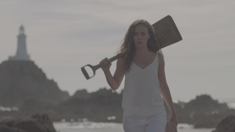 April Pearson shovel dead dog in Dark Beacon